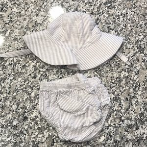 Pottery Barn Kids Sun Hat and Diaper Cover